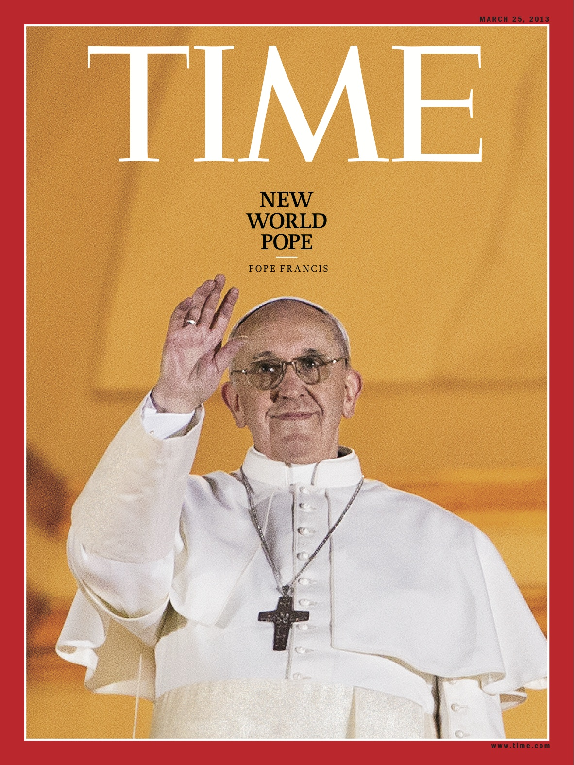 Time Magazine cover, March 25th, 2013