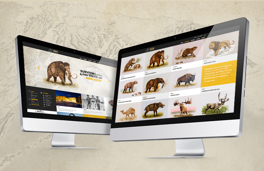 Website design of Yukon Beringia