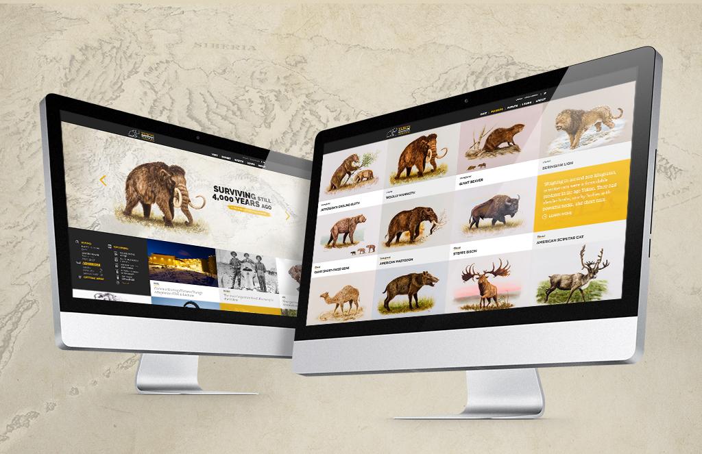 Website design of Yukon Beringia