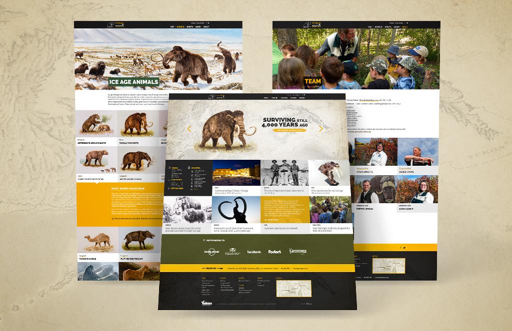 Website pages designof Yukon Beringia