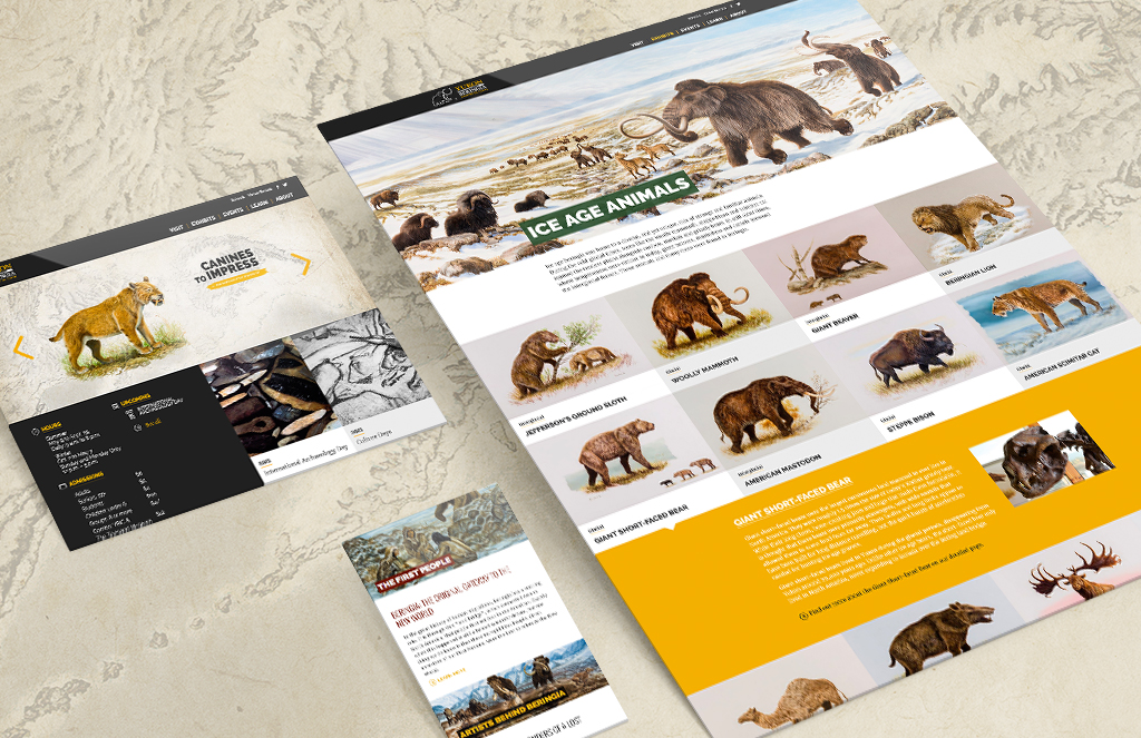 Responsive web design of Yukon Beringia